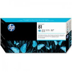 HP 81 Lt Cyan Dye Printhead and Cleaner C49