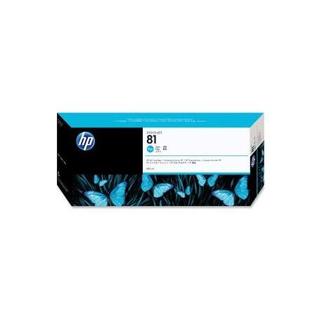 HP 81 680ml Cyan Dye Ink Cart C4931A