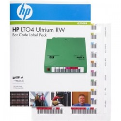 HPE LTO4 ULTRIUM RW BAR CODE LABEL PACK