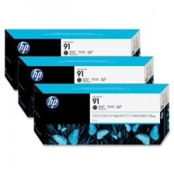 HP 91 775ml x 3 pack Matte Black Ink