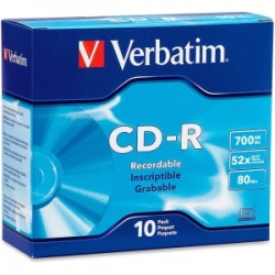 Verbatim CD-R 10pack Slim Case