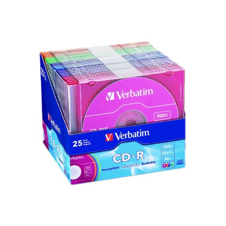 VERBATIM CD-R 25pk P-Cyanine