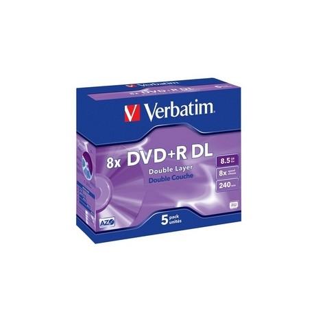 VERBATIM DVD+R DL 5pk Jewel Case