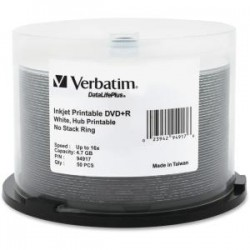 VERBATIM 50Pk DVD+R Spindle IJ Wide