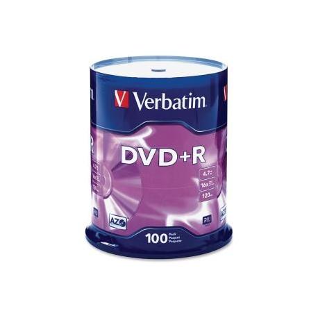 VERBATIM DVD+R 4.7GB 100Pk Spindle 16x