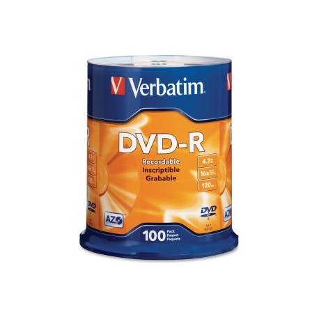 VERBATIM DVD-R 4.7GB 100Pk Spindle 16x