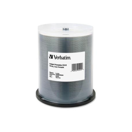 VERBATIM 100pk CD-R Spindle IJ Printable