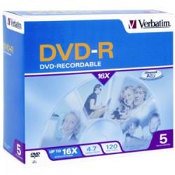 VERBATIM DVD-R 5pk Jewel Case