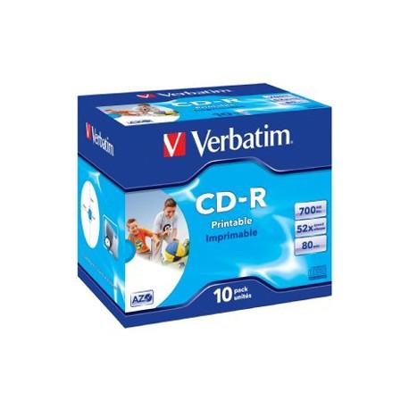 VERBATIM CD-R 10pk Wide InkJet