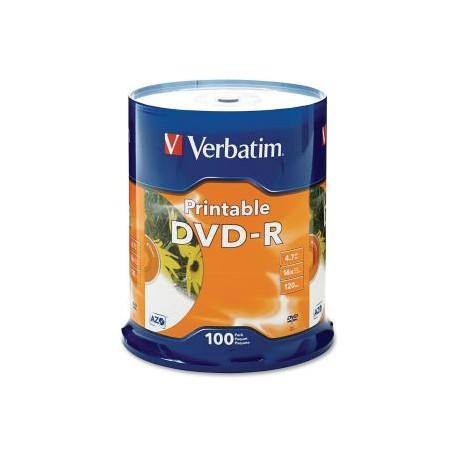VERBATIM DVD-R 100pk InkJet Printable