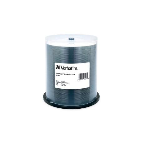 VERBATIM CD-R 80 Min WHT THERM 100 Pk 52x