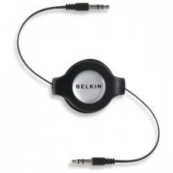 BELKIN IPH/IPOD/MP3 3.5MM/3.5MM RETRACT CABLE.