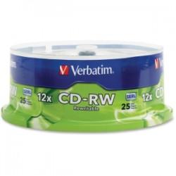 VERBATIM CD-RW 700MB 25Pk Spindle 4x-12x H Speed