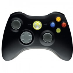 MICROSOFT WIRELESS XBOX 360 CONTROLLER - BLACK