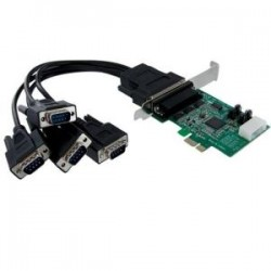 STARTECH 4 Port PCIe RS232 Serial Adapter Card.