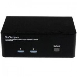 STARTECH 2 Port Dual DisplayPort USB KVM Switch