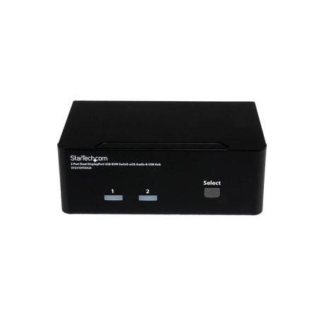STARTECH 2 Port Dual DisplayPort USB KVM Switch