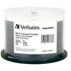 VERBATIM BD-R 25GB 50PK WHITE WIDE THERMAL 6X