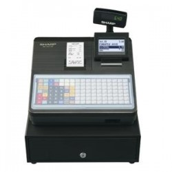 SHARP XEA217B CASH REGISTER/ FLAT KEYBD/ BLACK