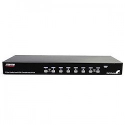 STARTECH 8 Port 1U Rackmount USB KVM Switch Kit