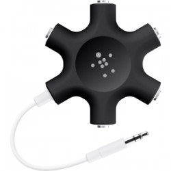 BELKIN Rockstar mult headphone splitter Blk