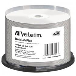VERBATIM DVD+R DL 8.5GB 50Pk WHT THERM 2.4x