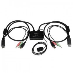 STARTECH 2 Port USB DisplayPort Cable KVM Switch