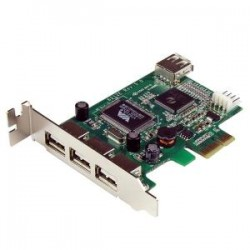 STARTECH 4 Port LP PCI Express USB Card