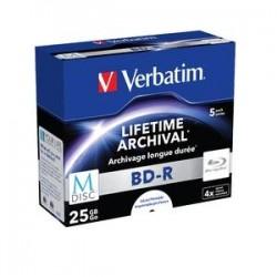 VERBATIM M-Disc BDR 25GB 5Pk JC White IJ Printabl