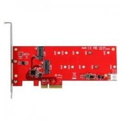 STARTECH 2x M.2 SSD Controller Card - PCIe