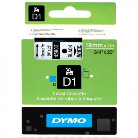 DYMO TAPE D1 19MM X 7M BLACK ON WHITE