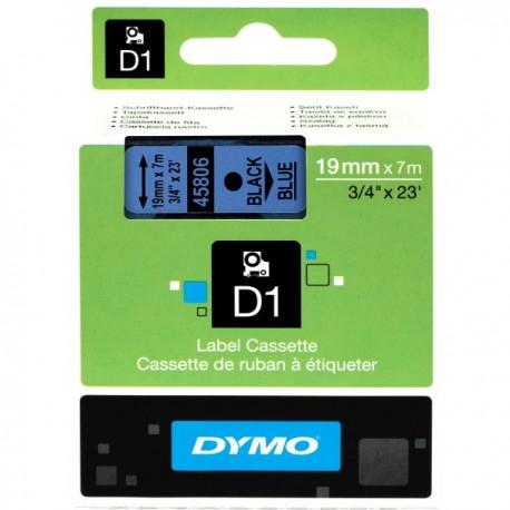 DYMO TAPE D1 19MMX7M BLK/BLU