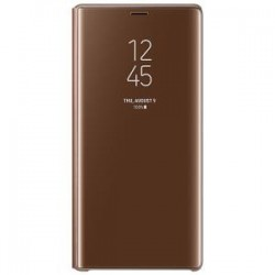Samsung Note 9 Clear View Cover Brown